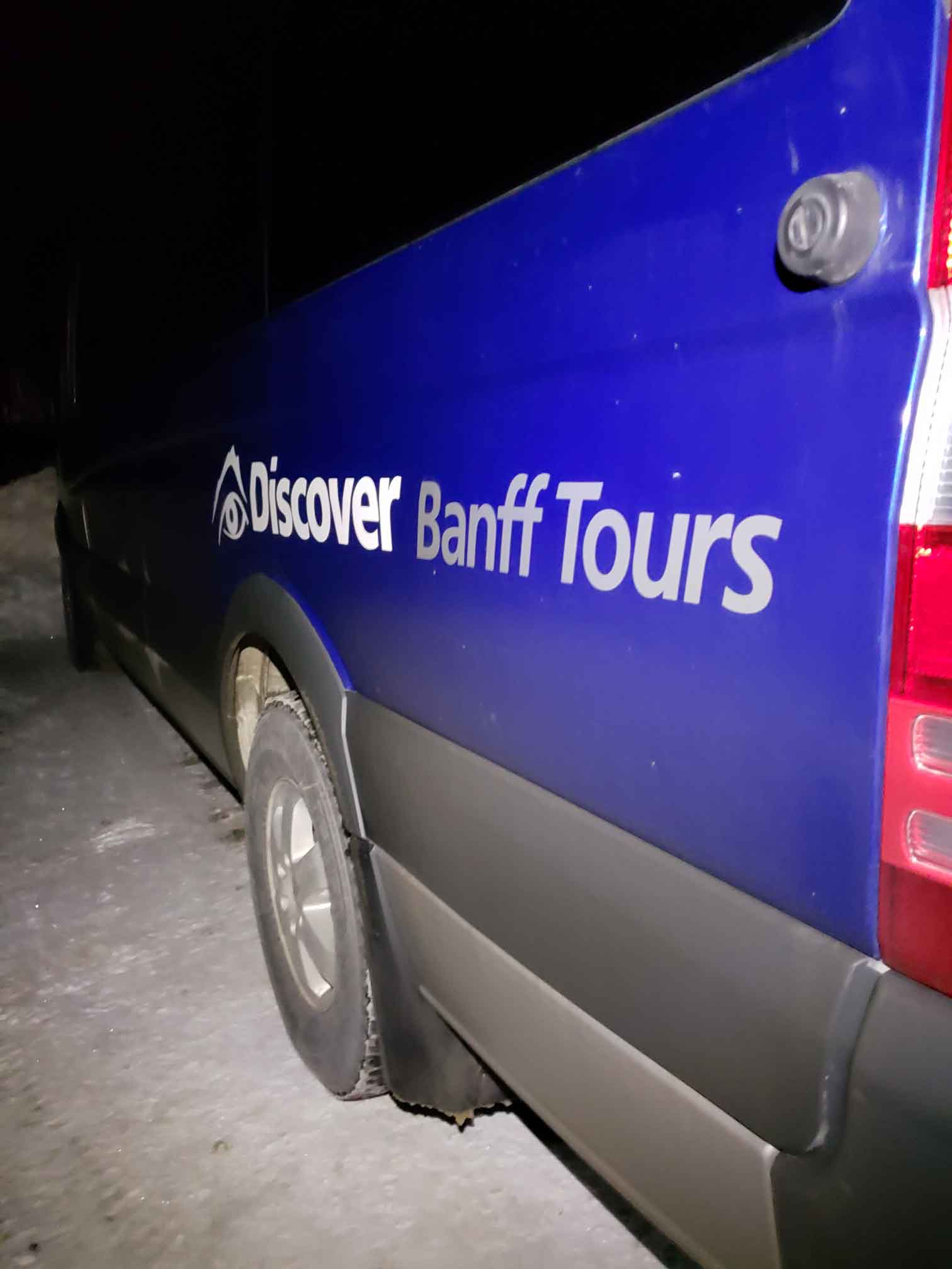 Discover Banff Tours bus by Kate Barker
