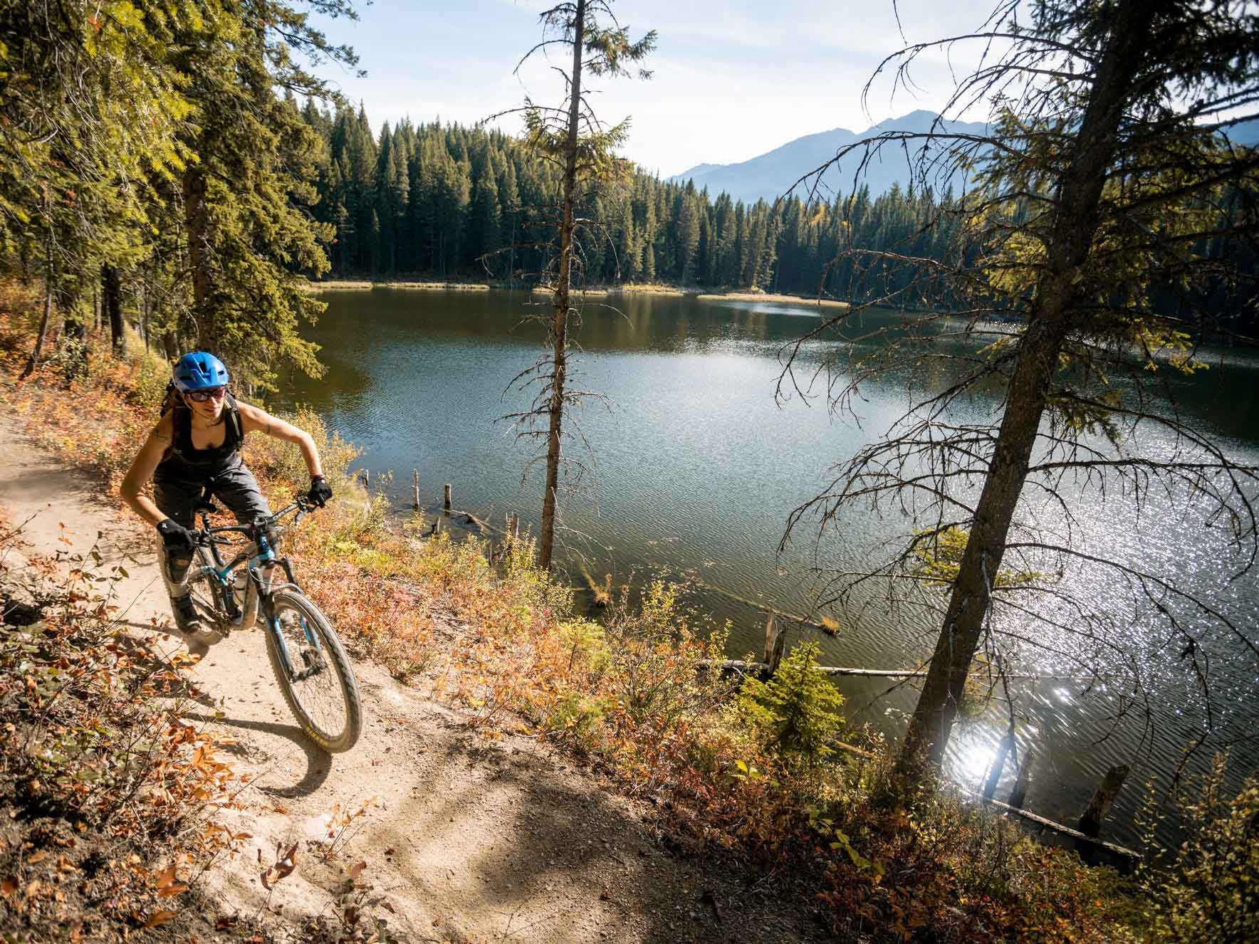 Mountain biking with Higher Ground in Golden BC