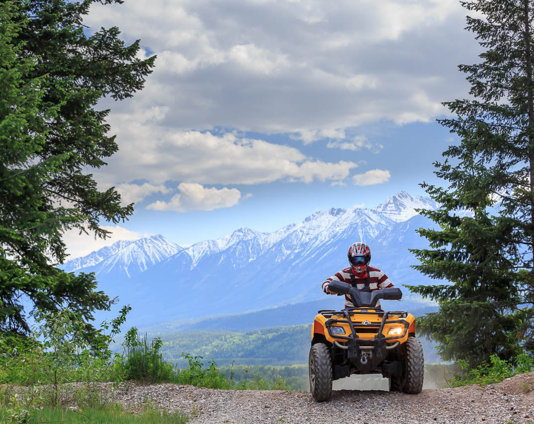 Quads with Canadian Off-Road Adventures and Xplore Golden