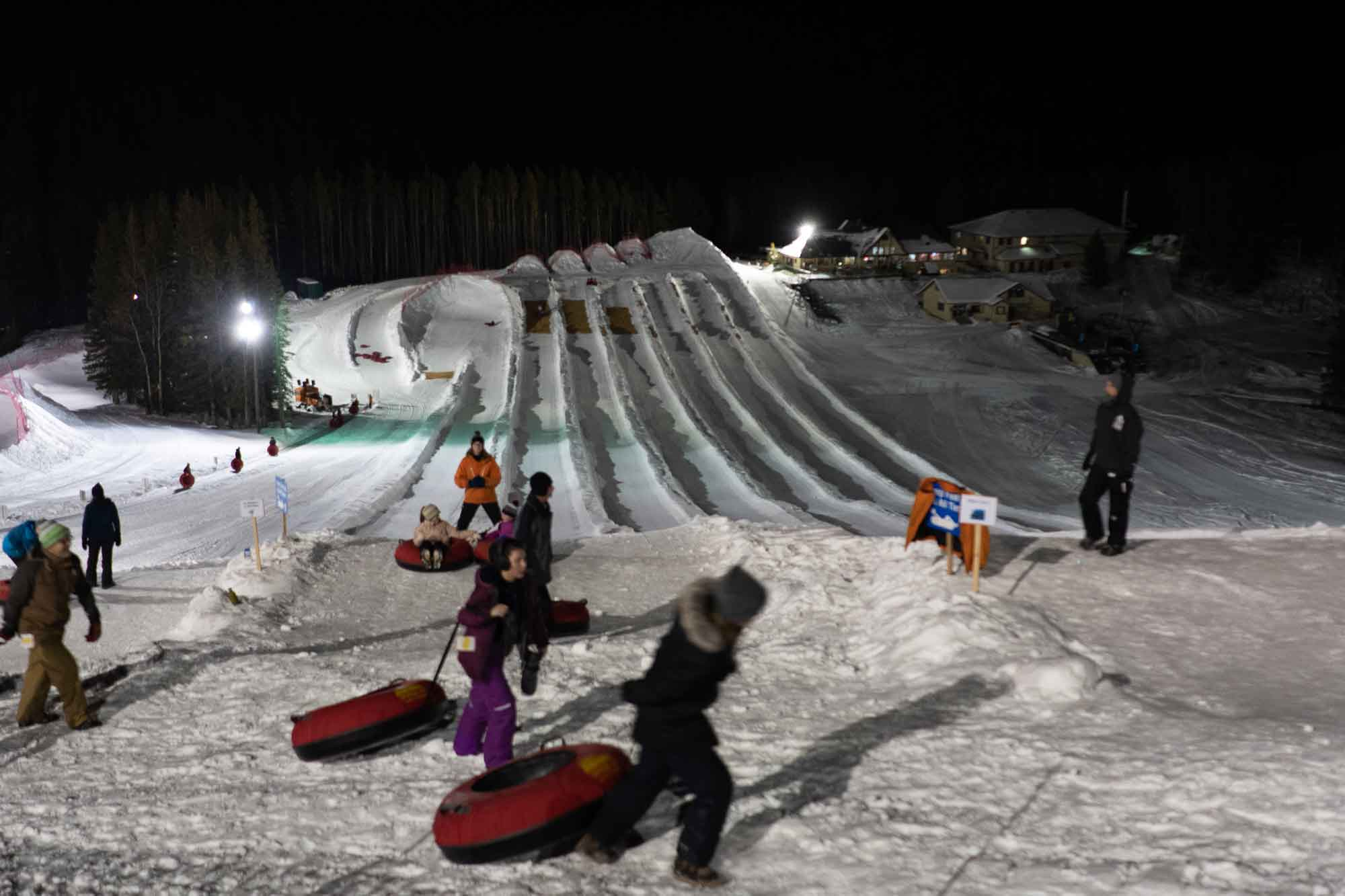 Nighttime Outdoor Adventures Night Tubing at Mount Norquay