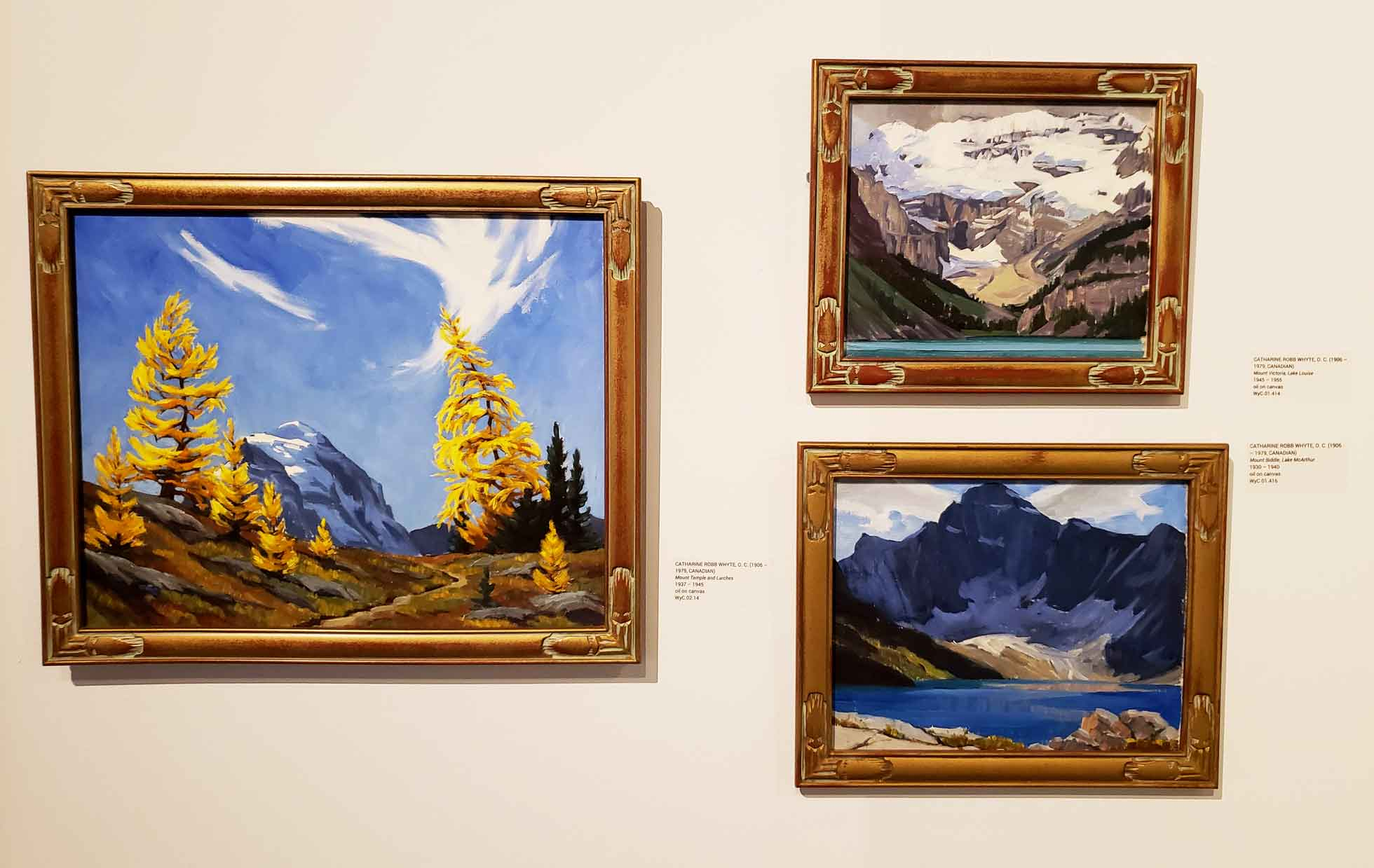 Paintings by Whyte Museum founder Catharine Robb Whyte