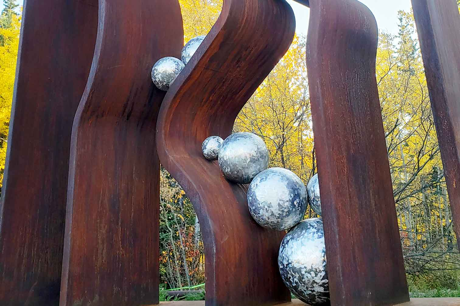 Detail of Tony Bloom's Altered Ground, part of the public art in Canmore project